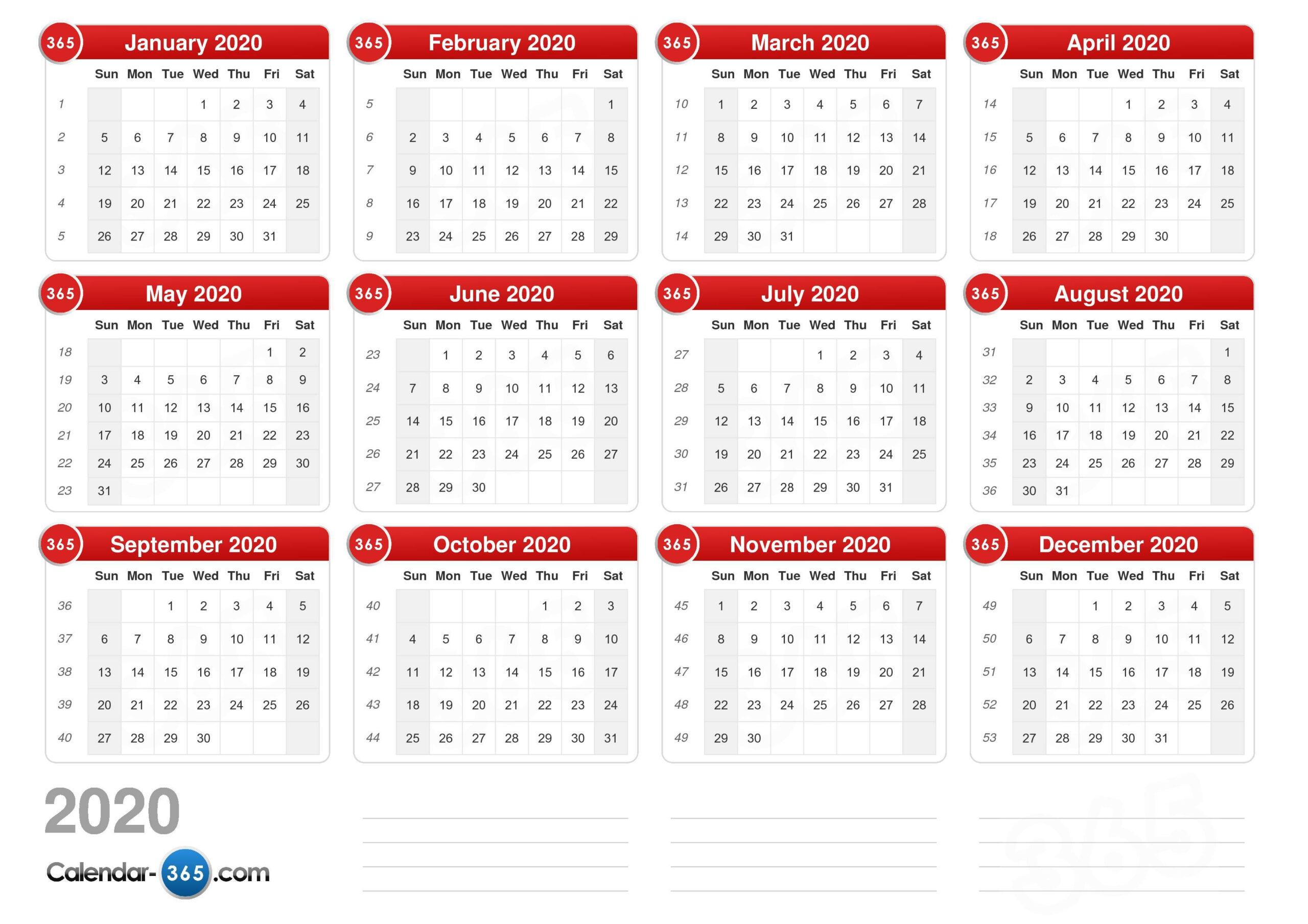 Calendar Week View 2020 | Calendar Printables Free Templates