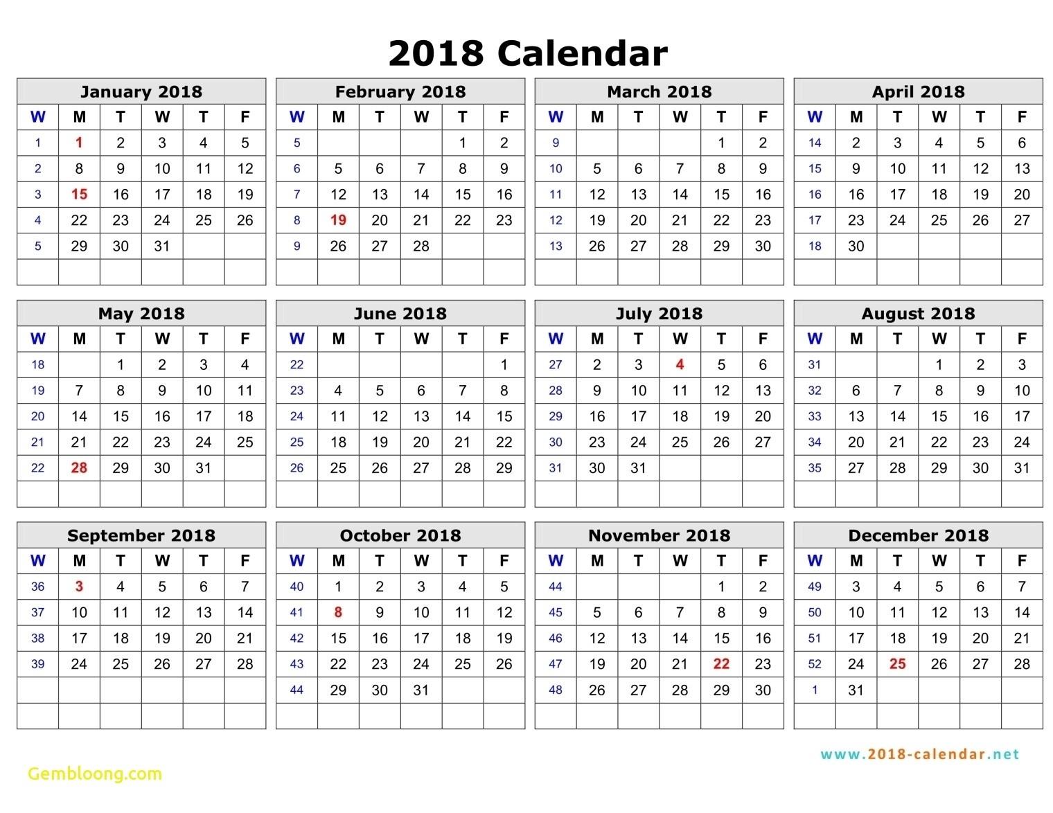 Calendar With Week Numbers | Ten Free Printable Calendar