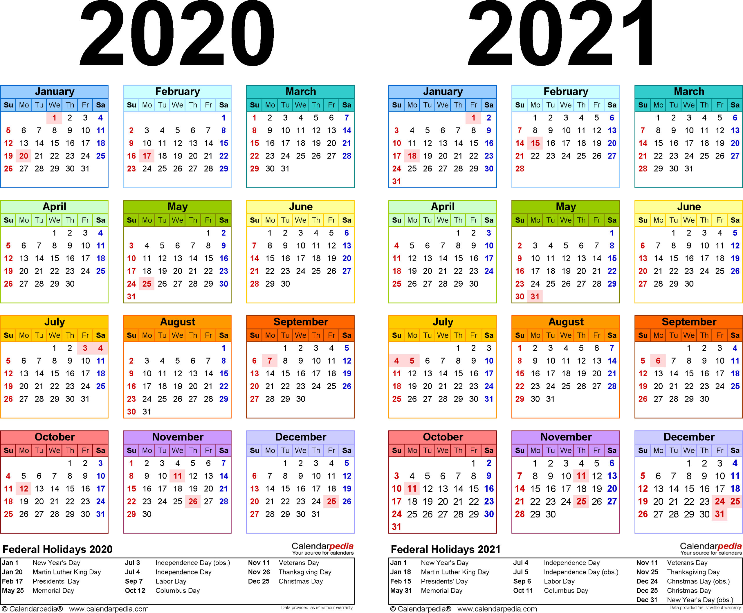 Calendarpedia 2020 Excel | Calendar For Planning