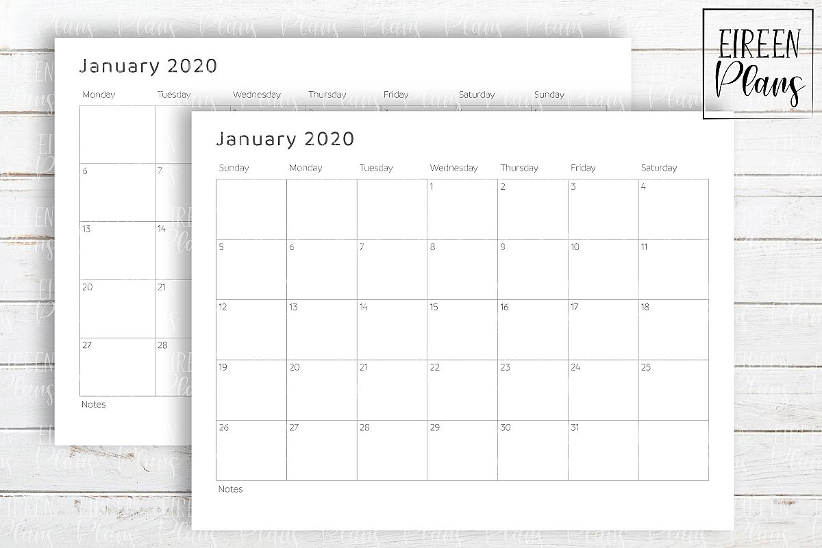 Catch Write In January 2020 | Calendar Printables Free Blank