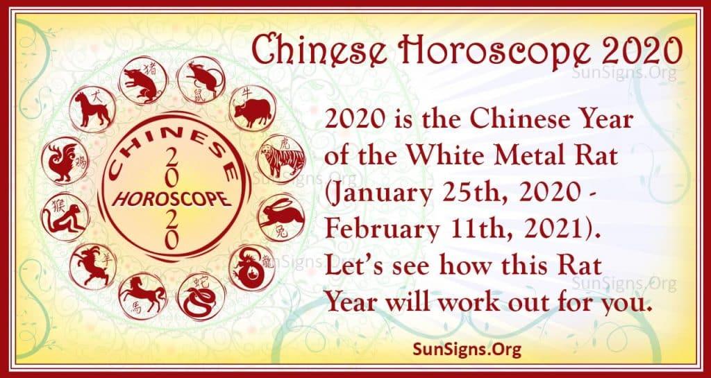 Chinese Horoscope 2020 - Year Of The White Metal Rat