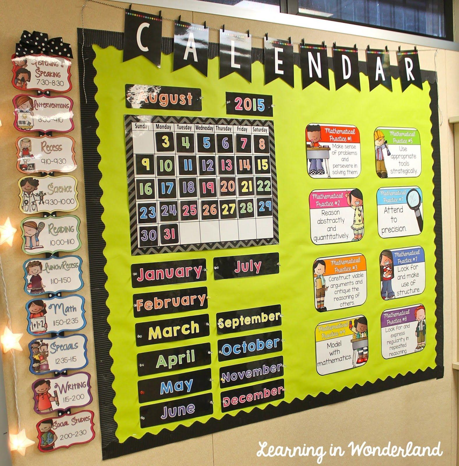 Classroom Tour {2015-2016} | Classroom Calendar, Classroom