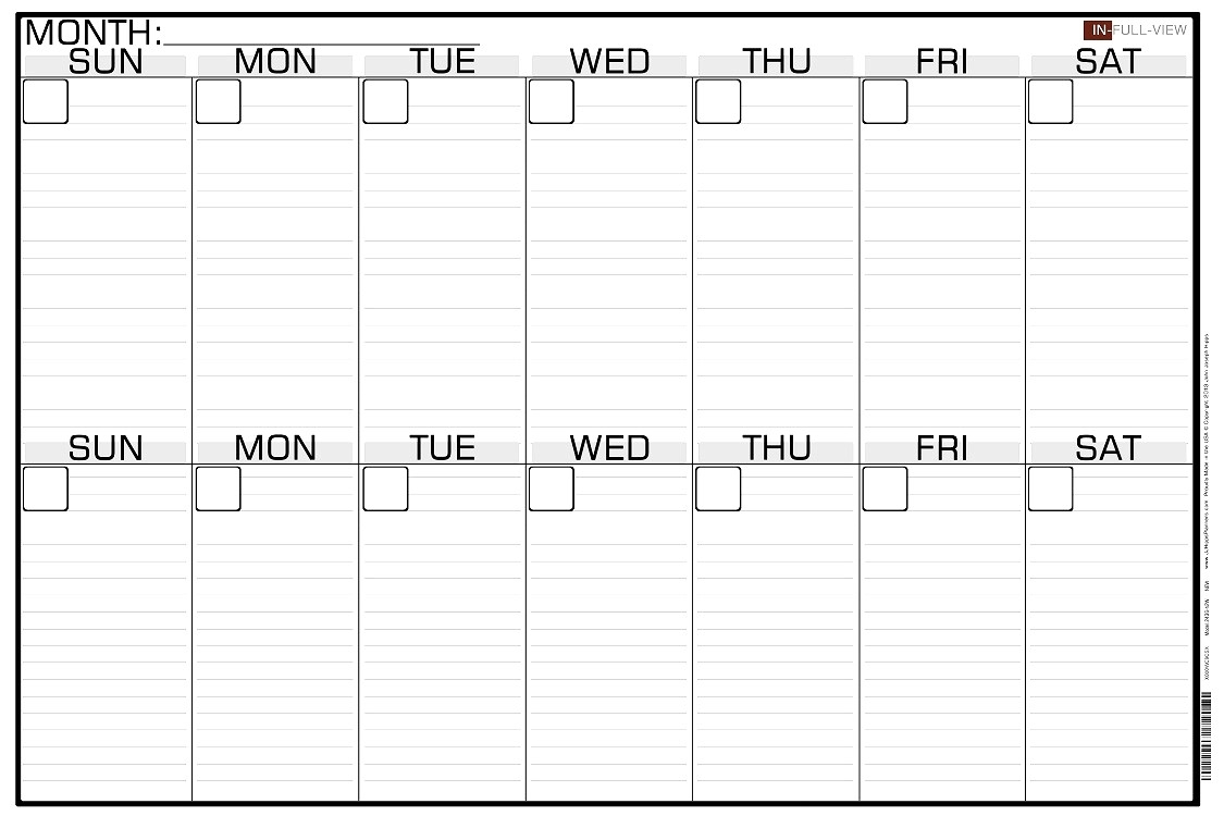 Collect Blank Two Week Calendar Template ⋆ The Best