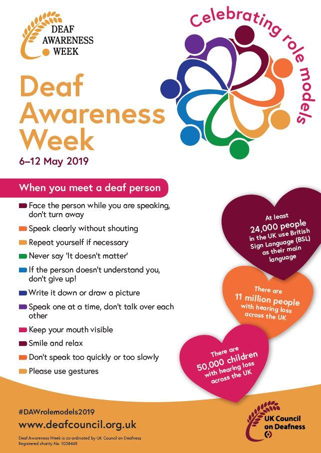 Deaf Awareness Week 2019 - Equality Policy Unit