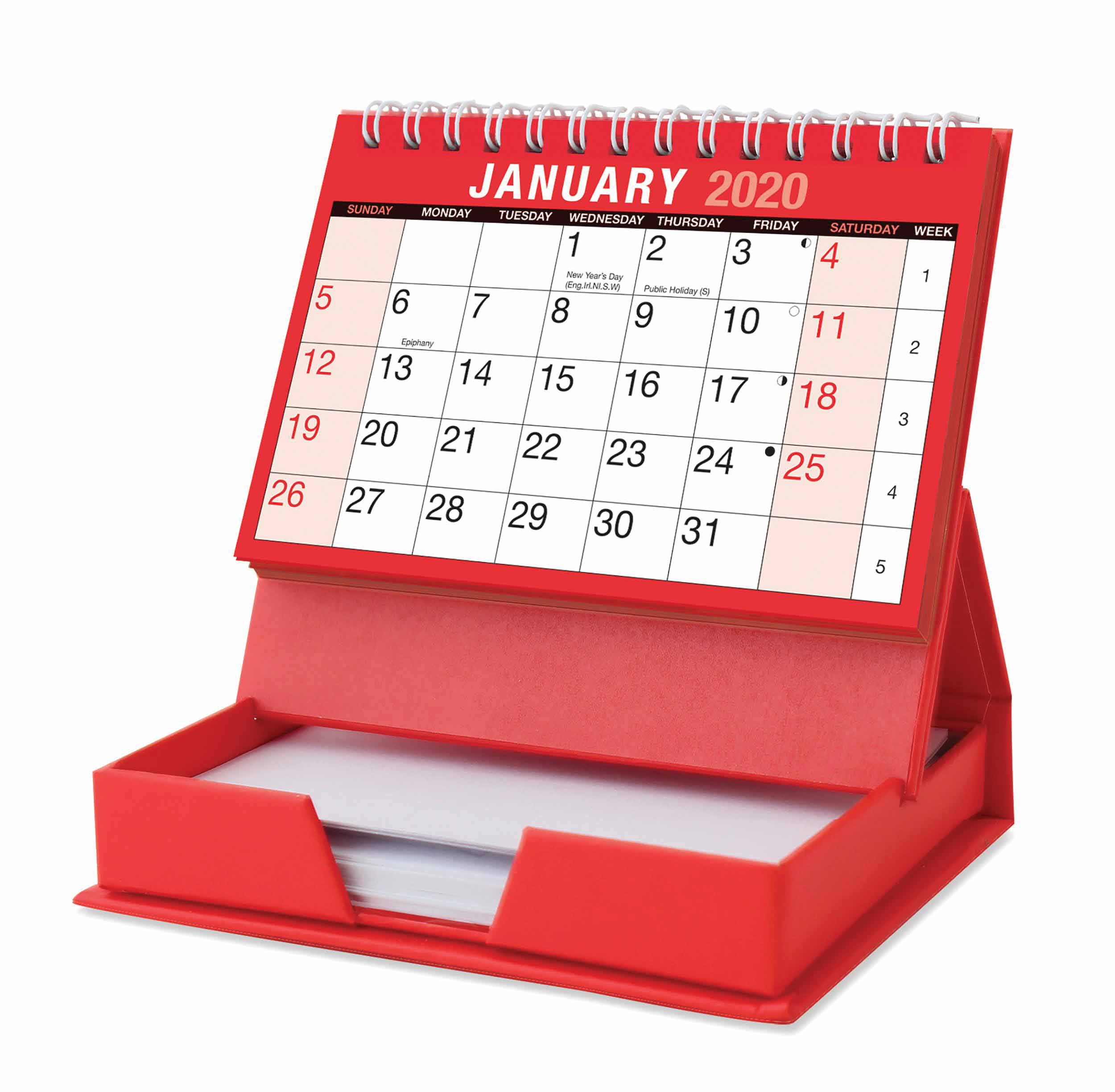 Desktop Calendar With Memo Pad 2020 - Calendar Club Uk