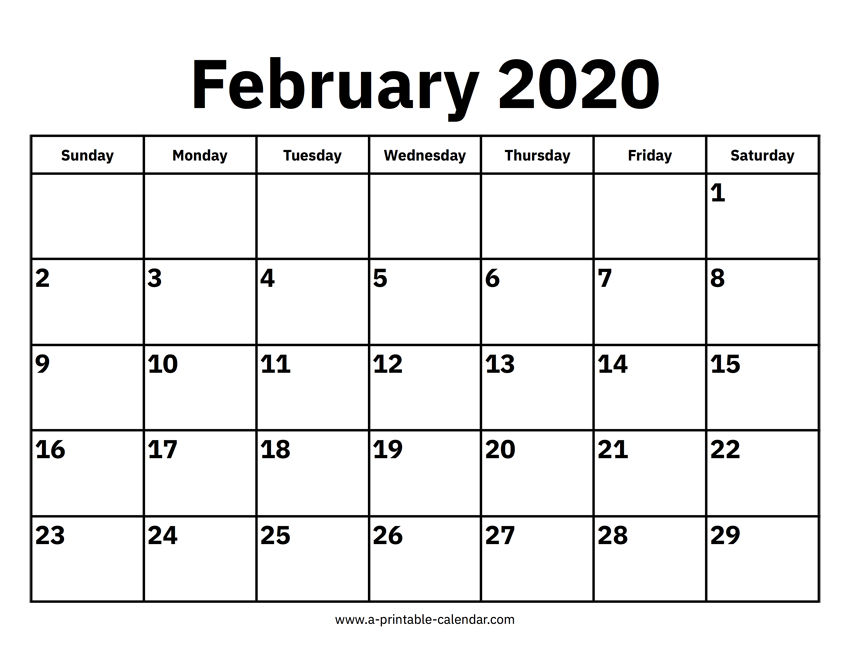 Download 2020 Calendar Printable With Holidays List | Free