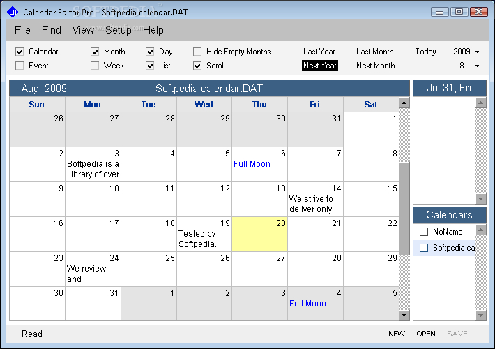 Download Calendar Program Pro 3.0