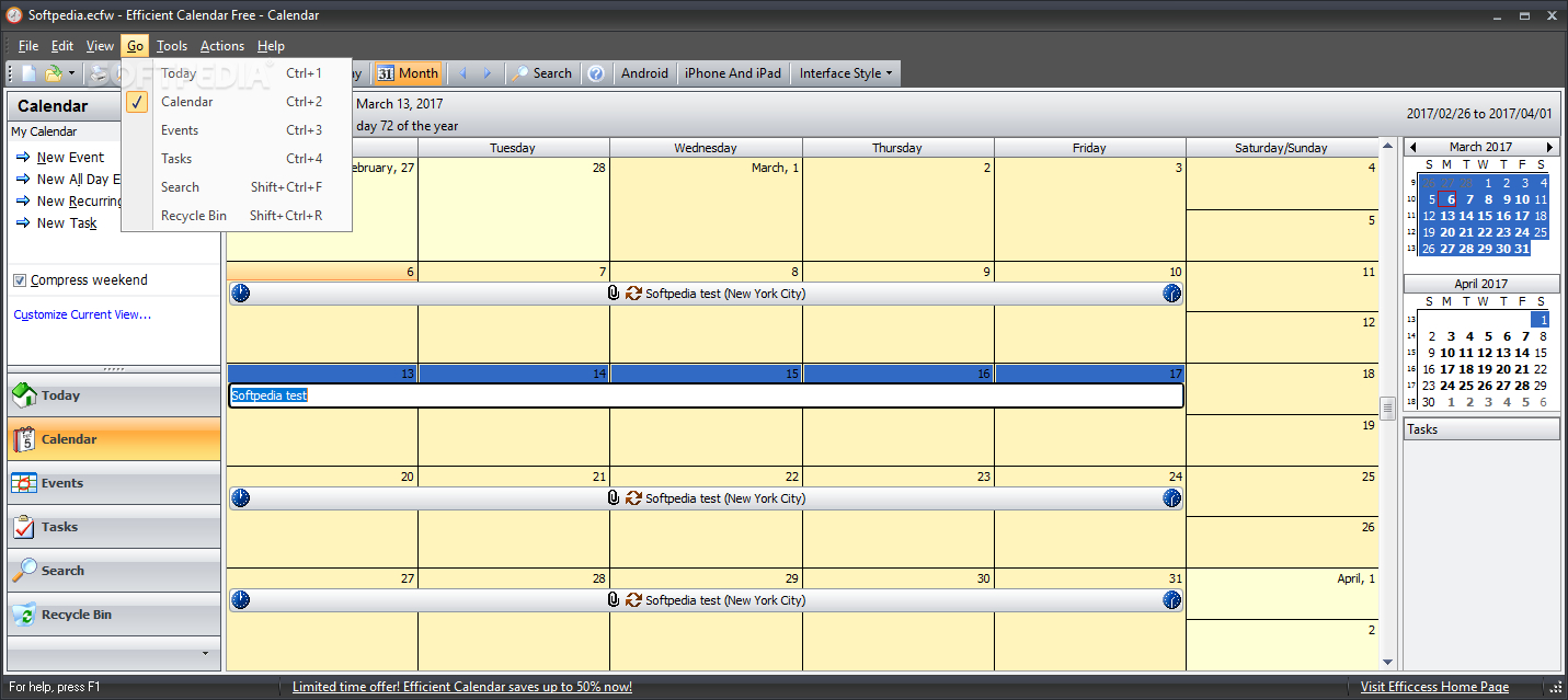 Download Efficient Calendar Free Portable 5.60 Build 555