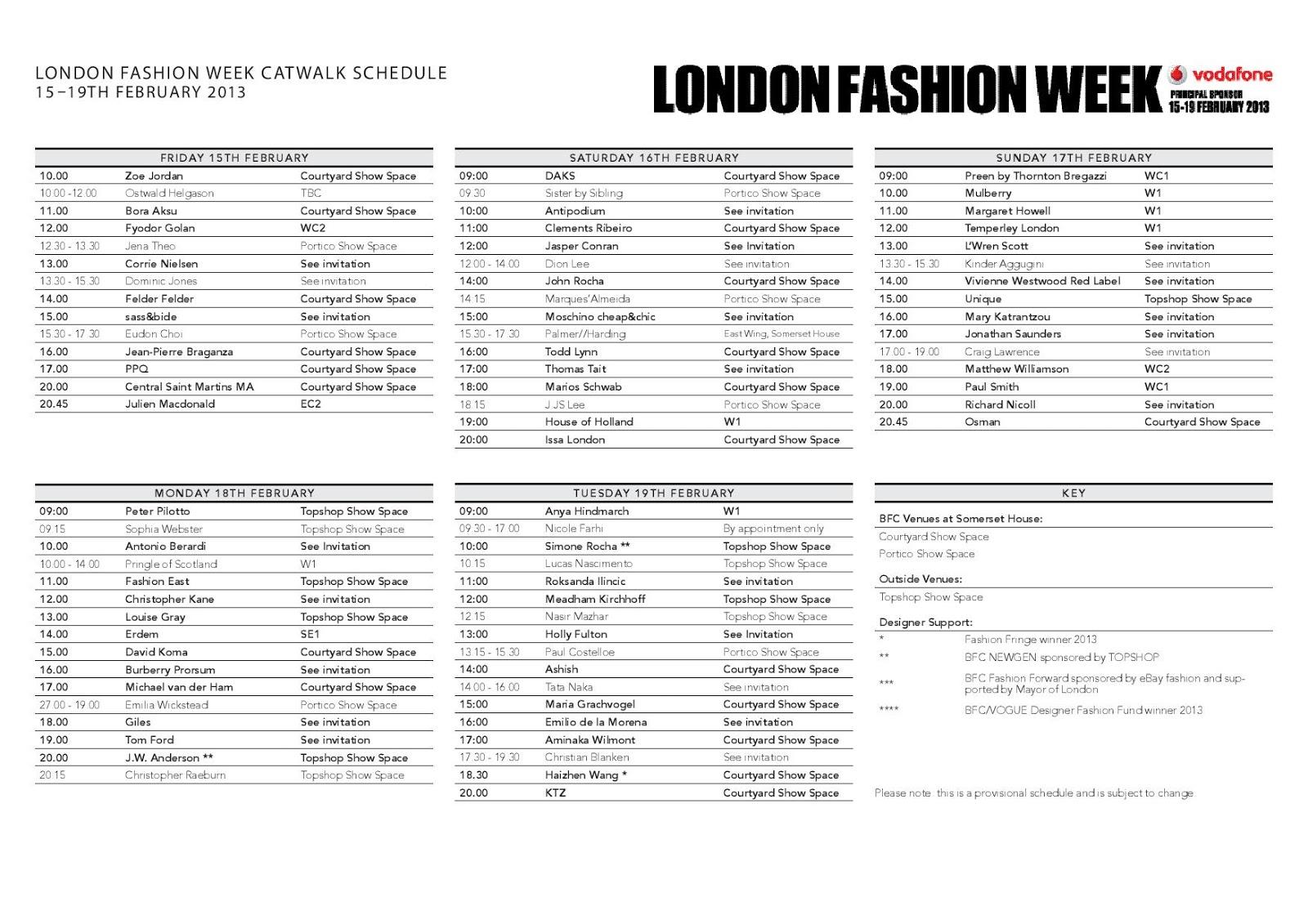 Fashion Studio Magazine: London Fashion Week: Show