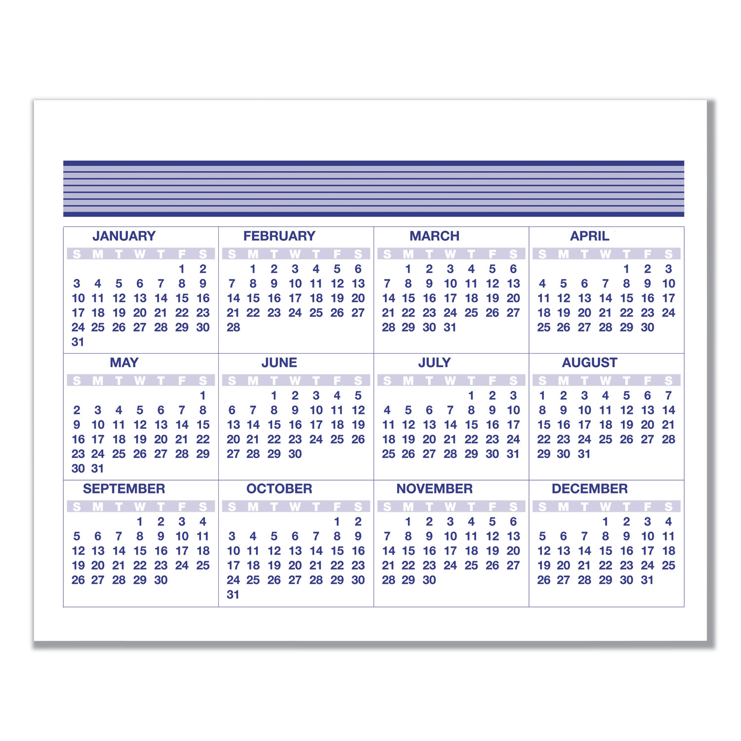 Flip-A-Week Desk Calendar Refill, 5 5/8 X 7, White, 2020
