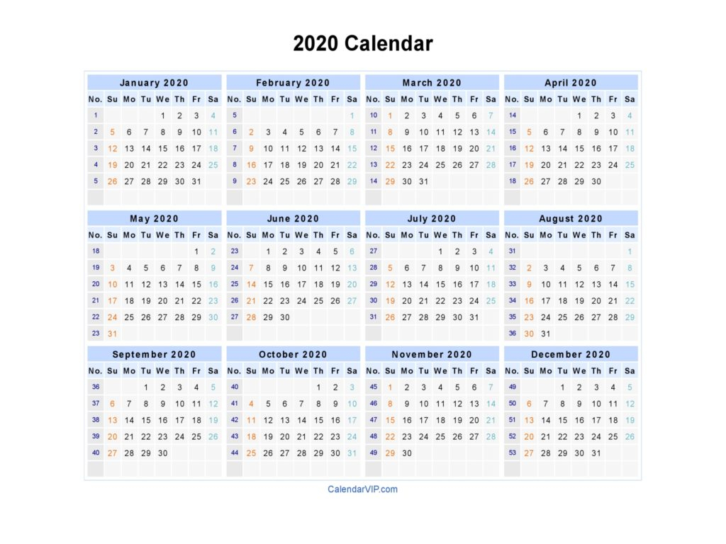 Free 2020 Printable Calendar Templates - Create Your Own