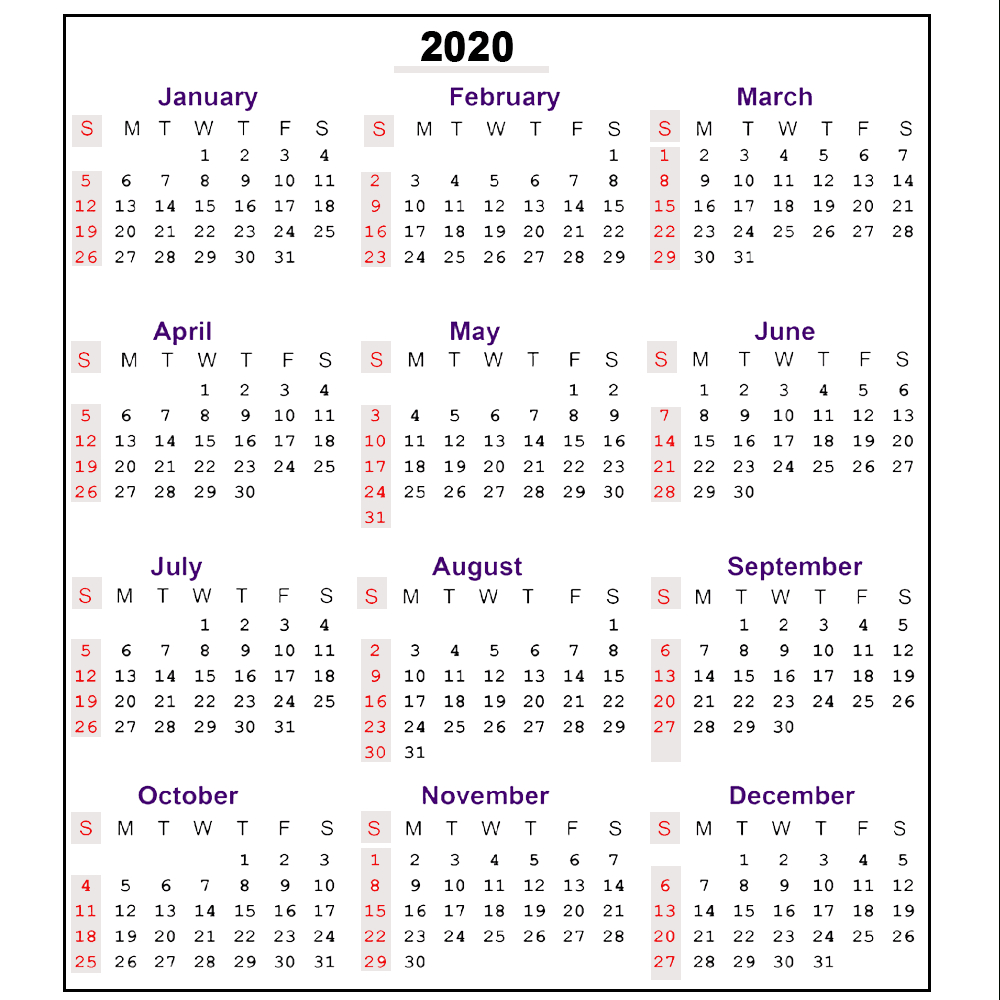 Free 2020 Printable Calendar Templates | Editable