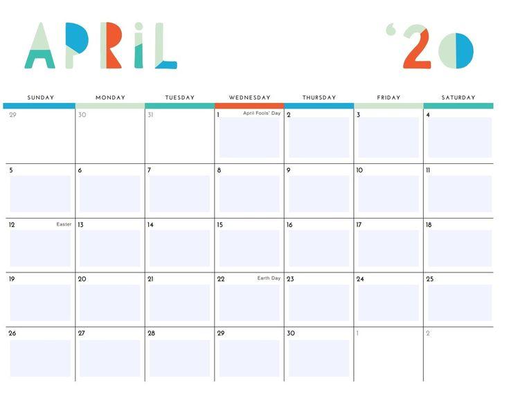 Free April 2020 Desk Calendar In 2020 | Calendar, Monthly
