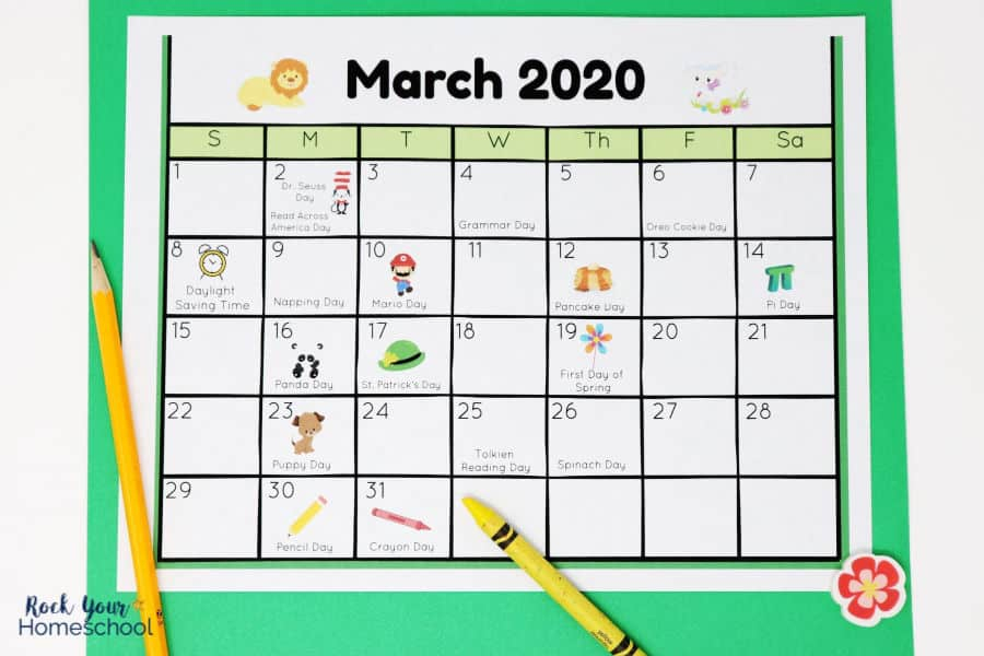 Free Calendar Of Fun Holidays For Kids To Celebrate