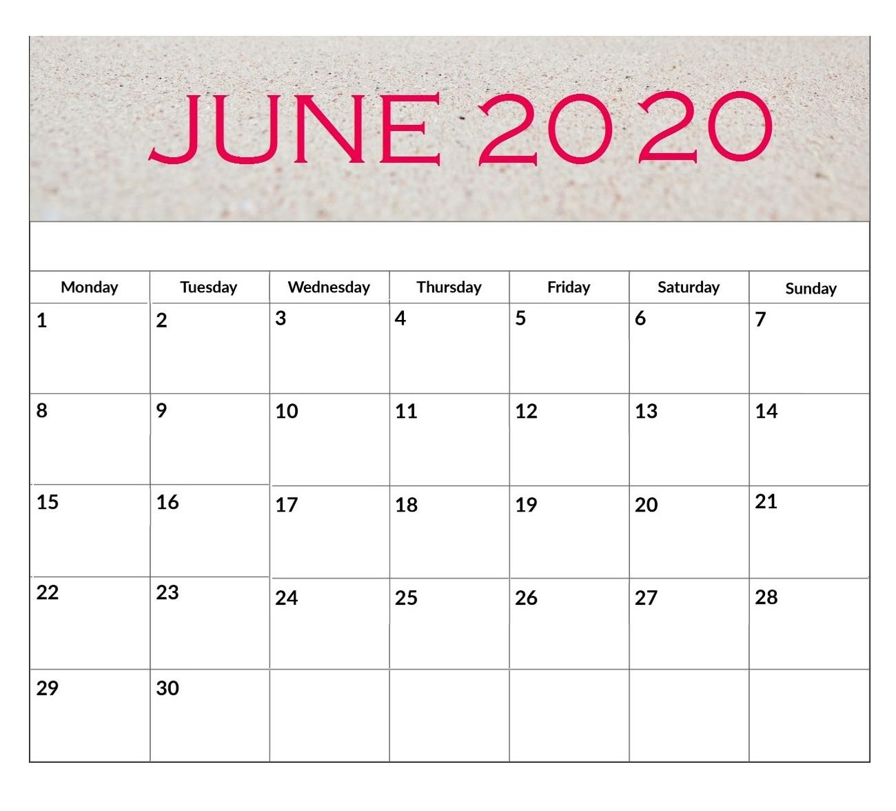 Free June 2020 Desk Calendar | Calendar 2019