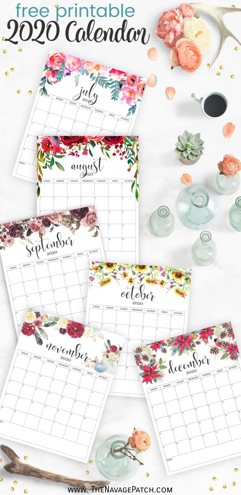 Free Printable Calendar 2020 - The Navage Patch