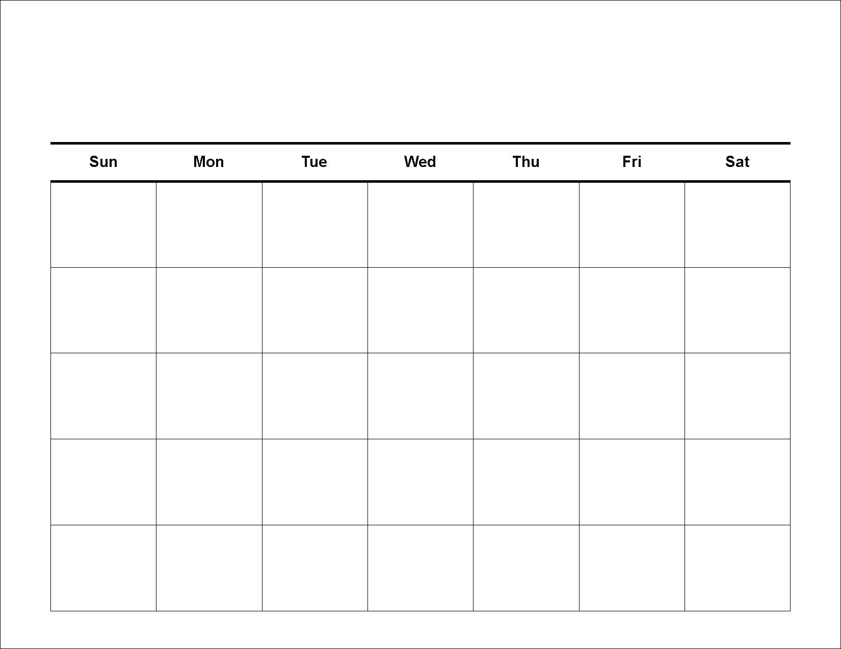 Free Printable Calendar Creator   Ten Free Printable