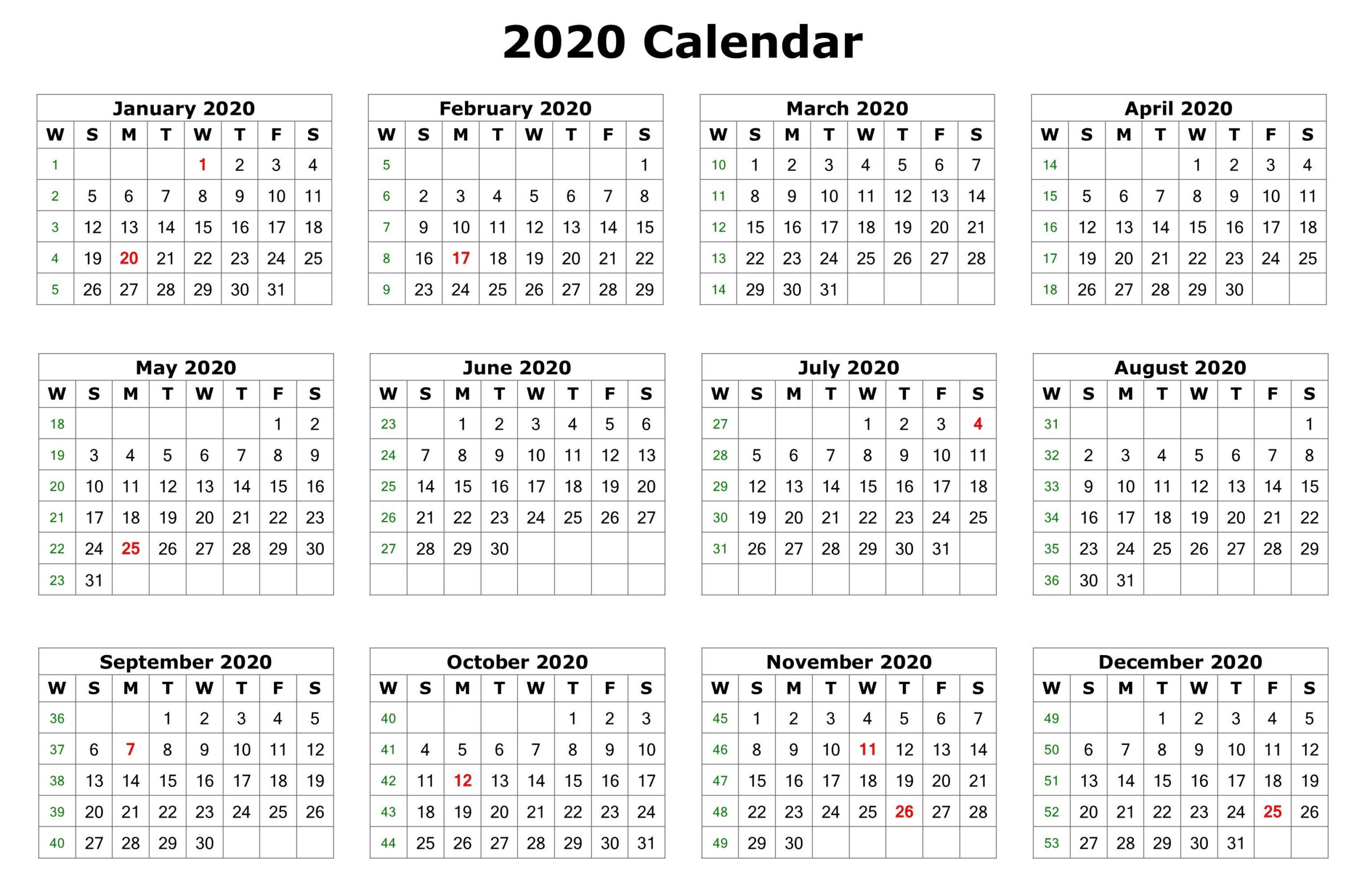 Free Printable Calendar Labs 2020 | Calendar Printables