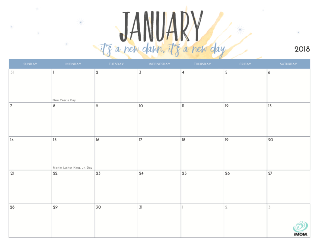Free Printable - Monthly Calendars For 2019 | Free