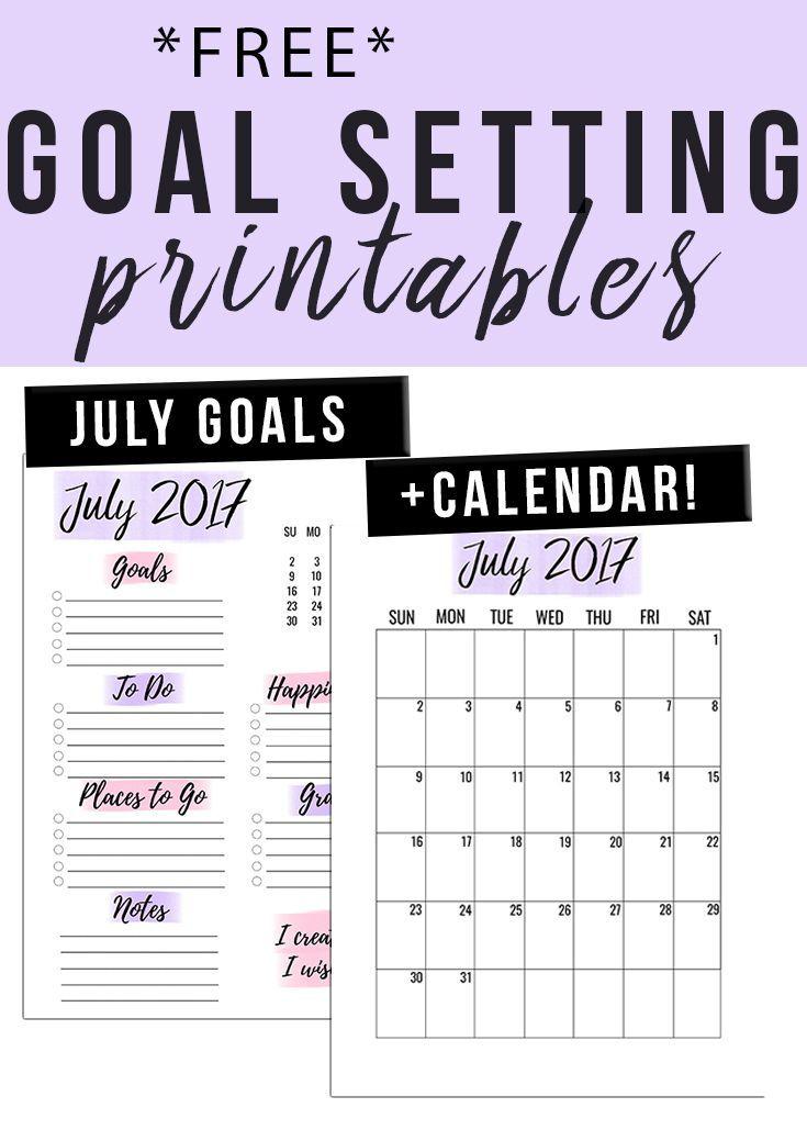 Free Printables | Goal Setting Printable, Printable