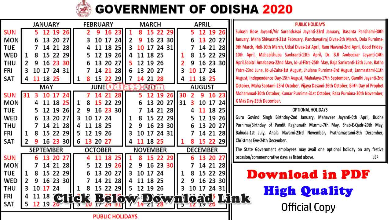 Get Government Calendar 2020 With Holidays | Calendar