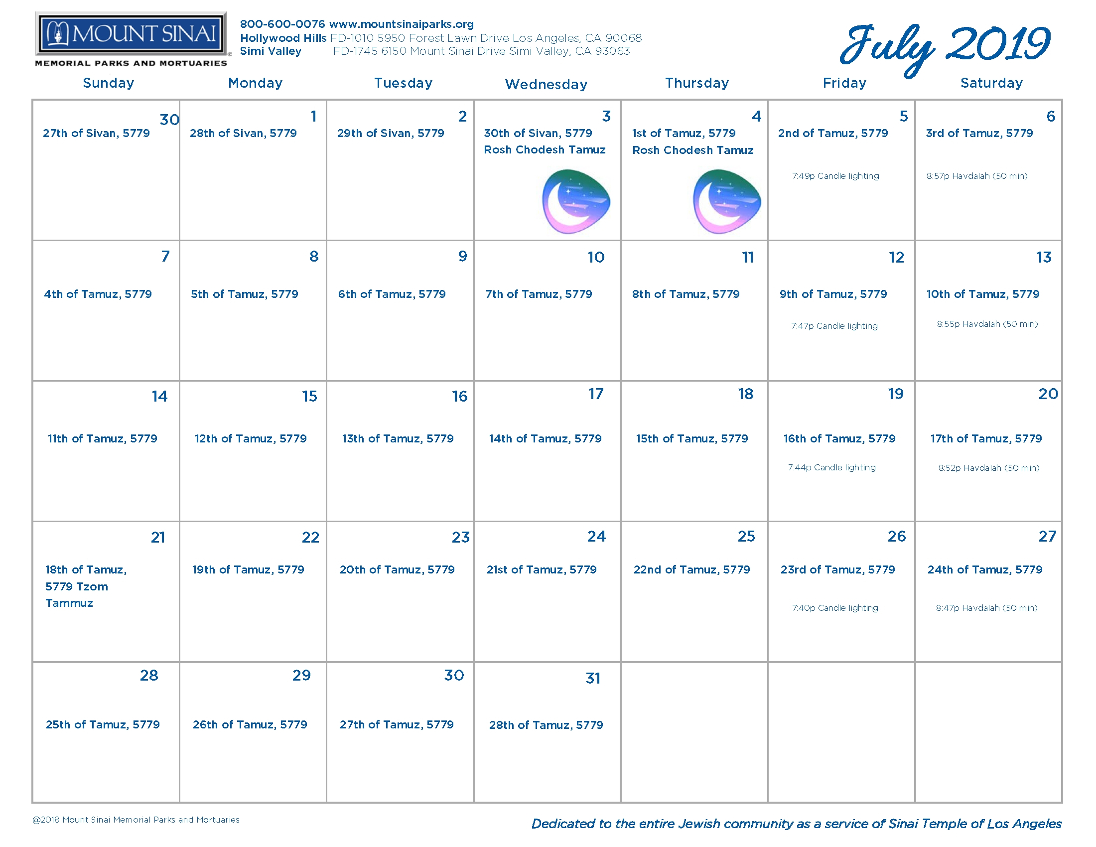 Get Jewish Calendar For August And September 2019 ⋆ The