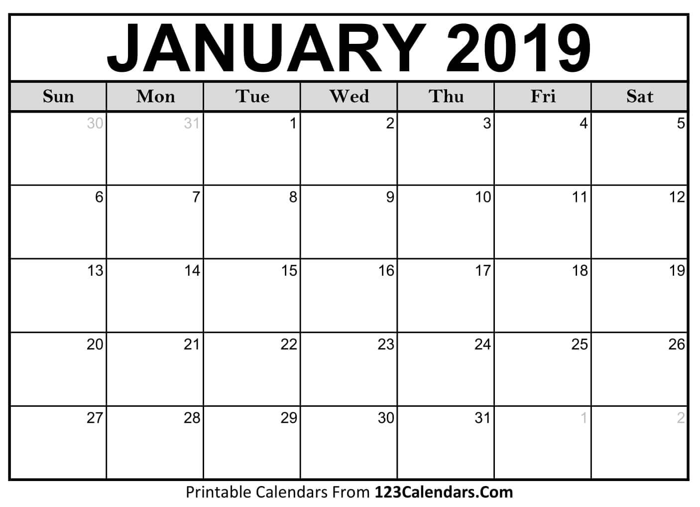 Get Printable Calendar 2019 December Legal Size ⋆ The Best