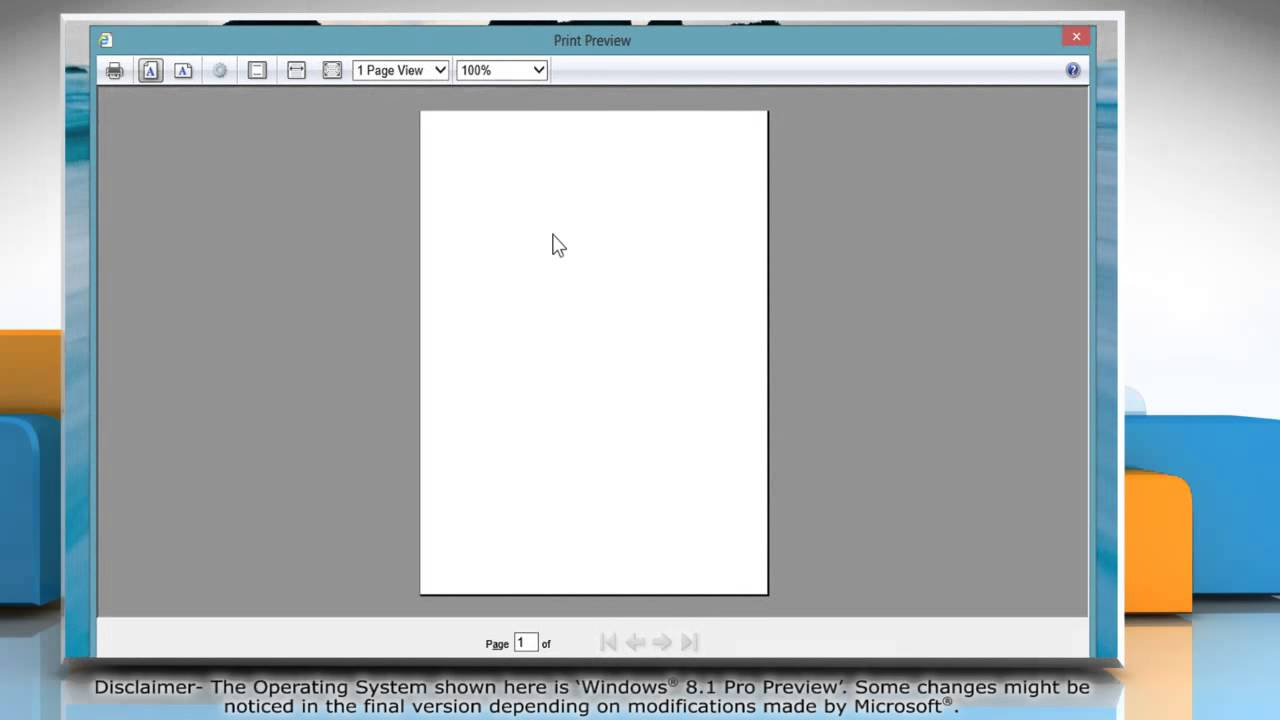 How To Preview And Print Webpage In Internet Explorer® 11