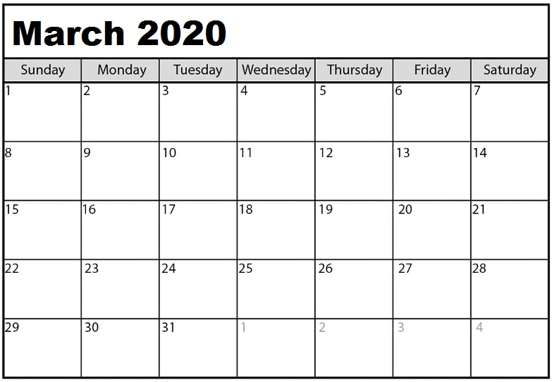 If You Want To Make A Plan For All The Events For March