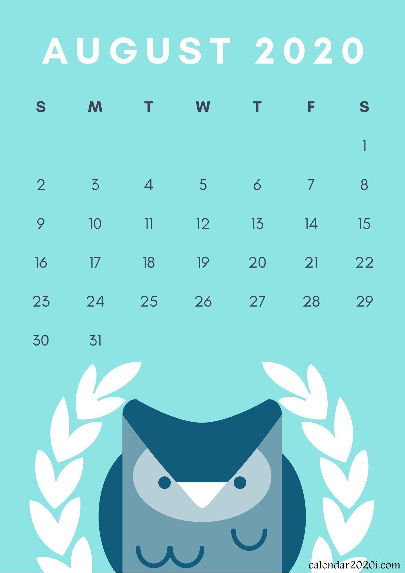 Iphone August 2020 Calendar Wallpapers | Calendar 2020