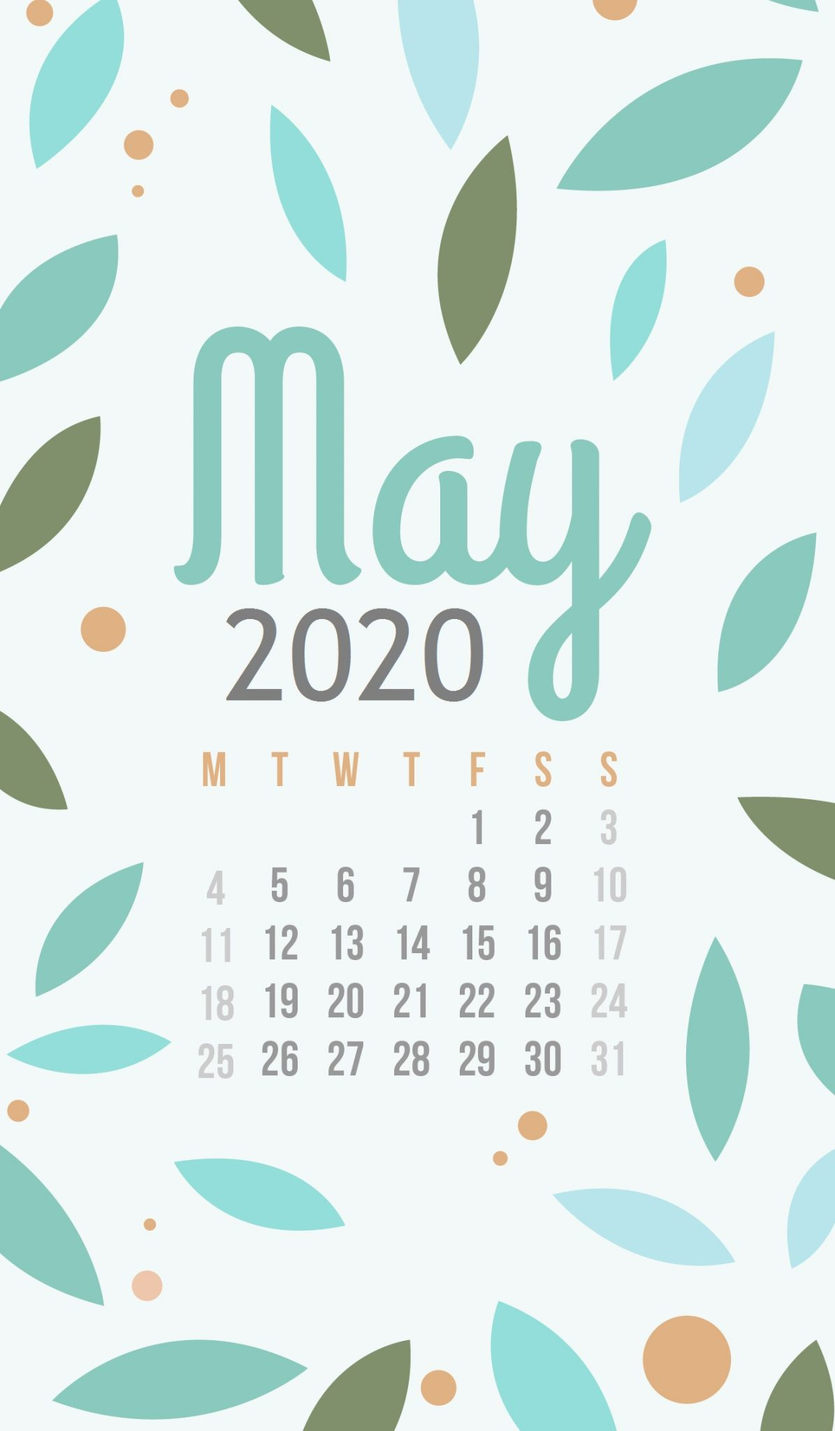 Iphone May 2020 Wallpaper | Calendar 2019