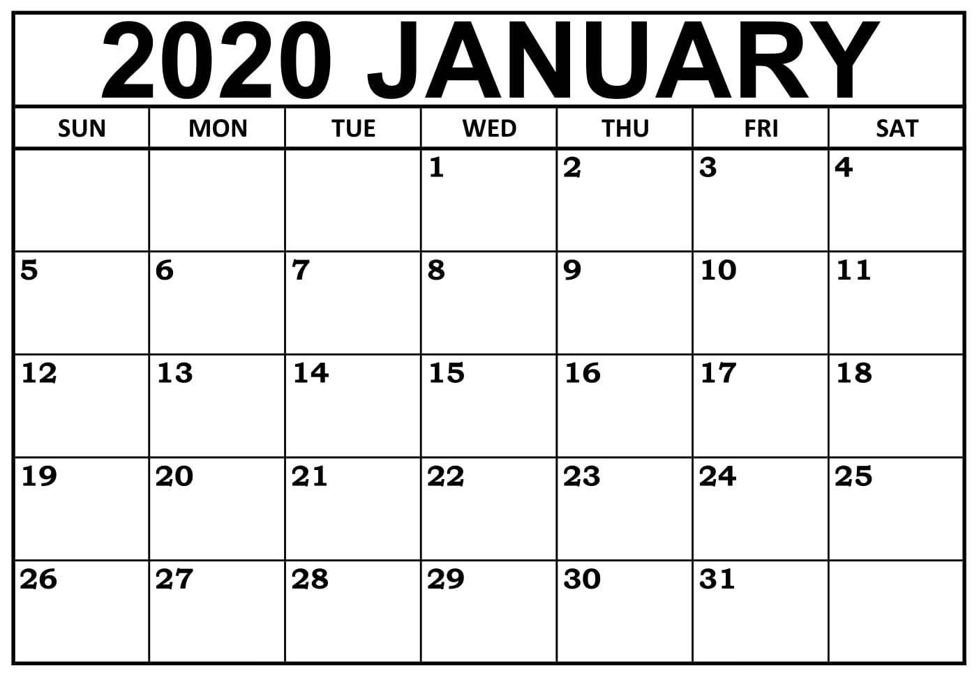 January 2020 Calendar Nz (New Zealand) - 2019 Calendars