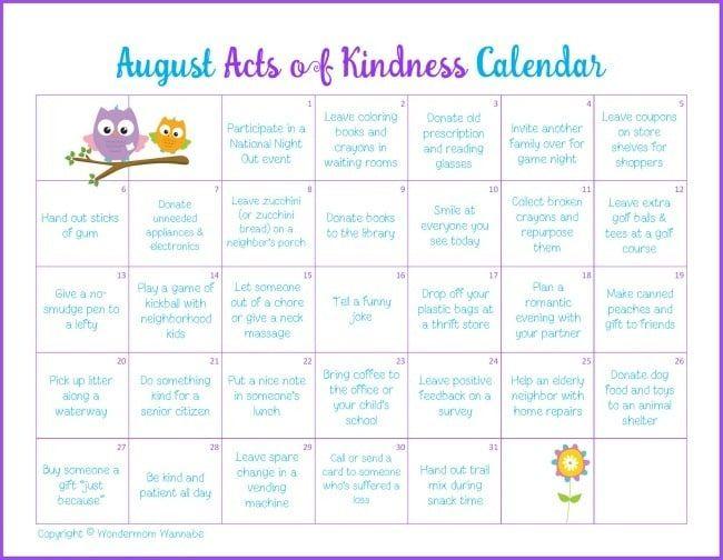 January Kindness Calendar 2020 - Hd Football