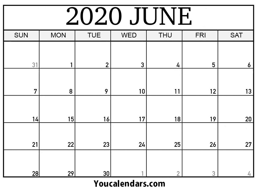 June 2020 Calendar Pdf File Format - You Calendars