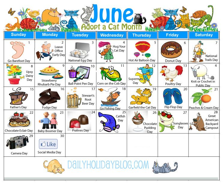 June Holidays Calendar | Holiday Calendar