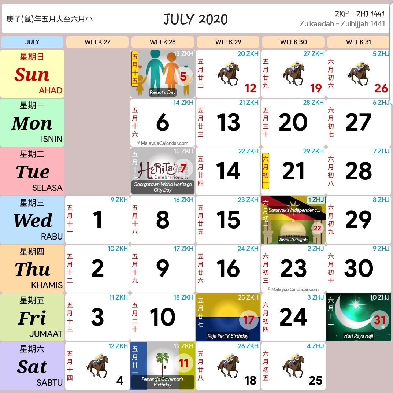 Kalendar 2020 Dan Cuti Sekolah 2020 - Rancang Percutian