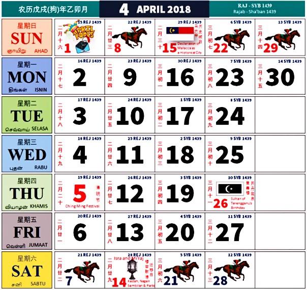 Kalendar Kuda Tahun 2020 Malaysia - My Panduan