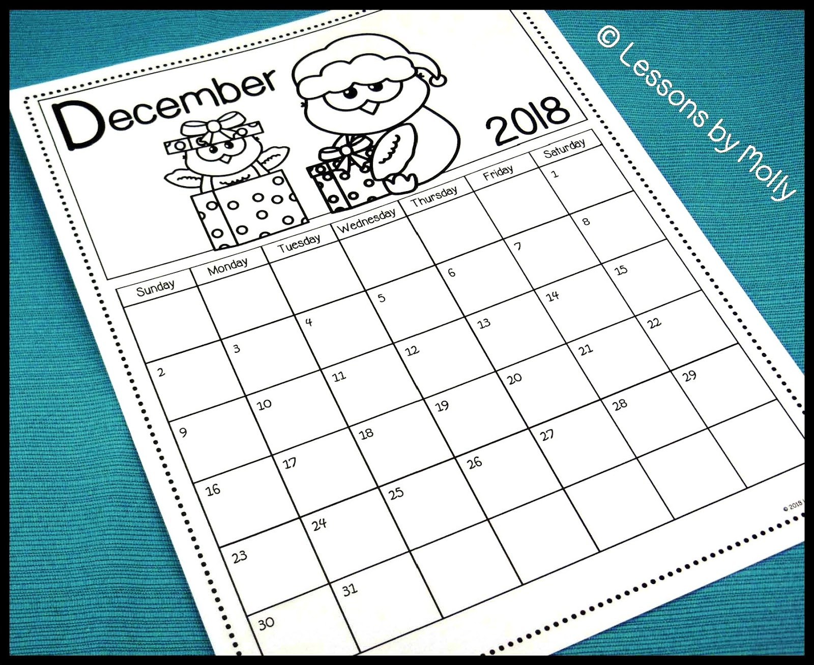 Lessonsmolly: Free School Calendar
