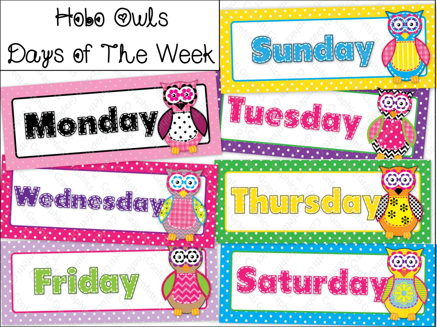 Lovely Days Of The Week Calendar Printables | Free