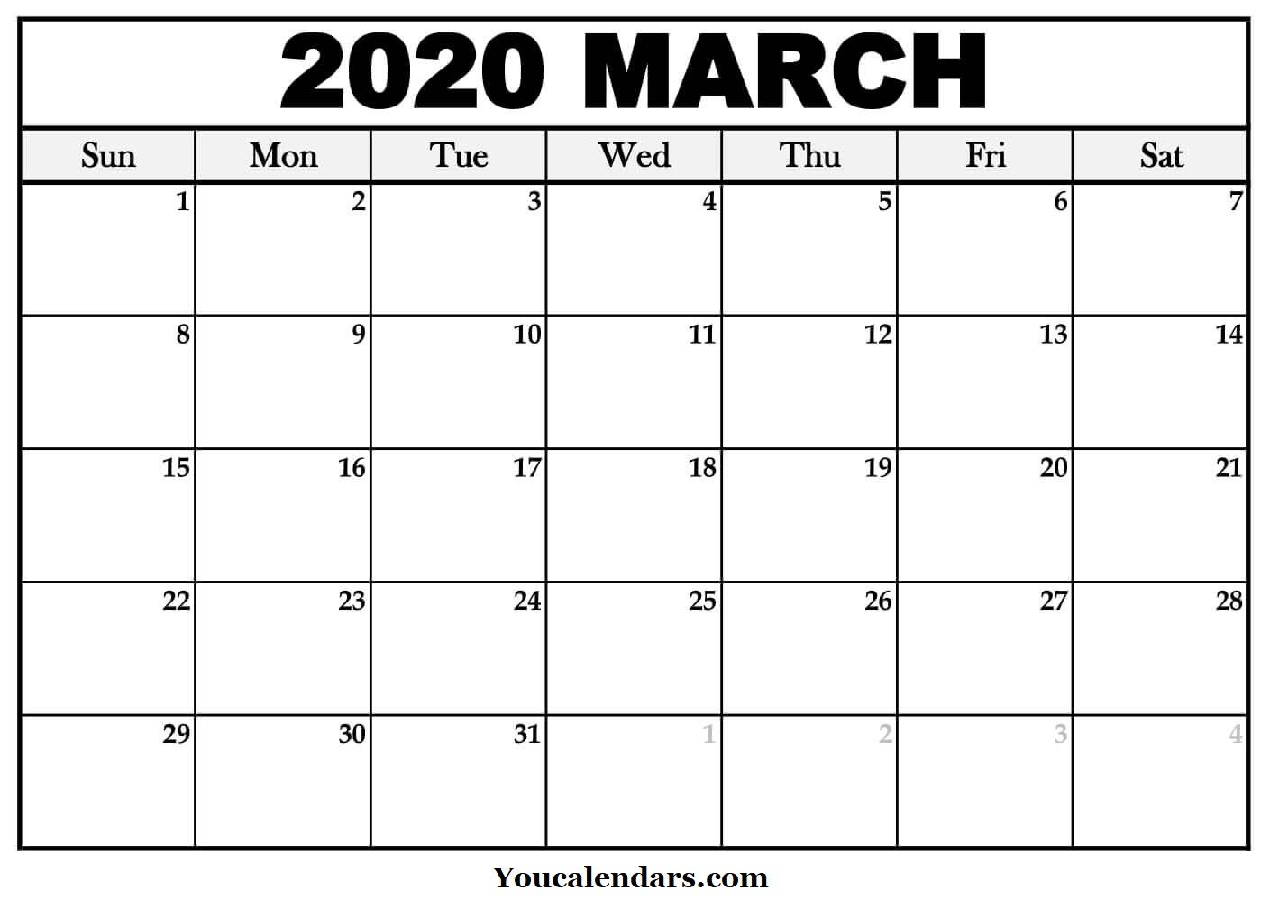 March 2020 Calendar Australia Free Pdf - You Calendars
