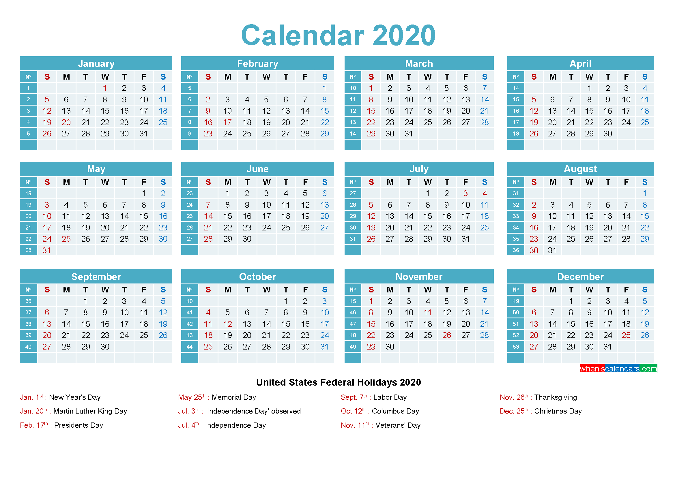 Maxine Desk Calendar 2020 With Holidays Printable – Free
