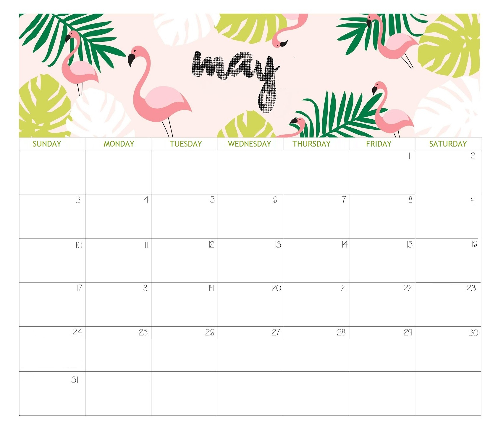 May 2020 Calendar | Calendar 2019