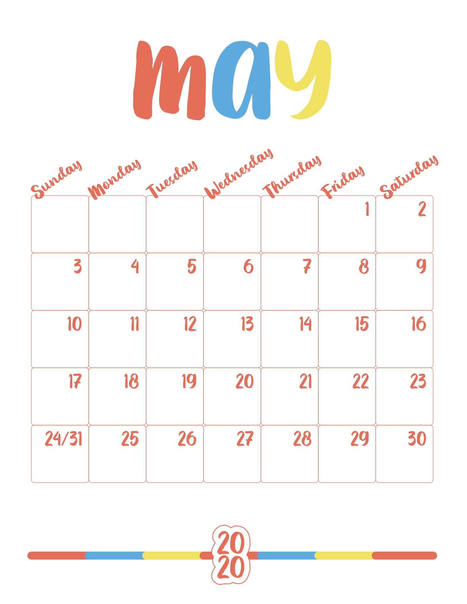 May 2020 Calendar With Holidays Dates Us Australia Canada