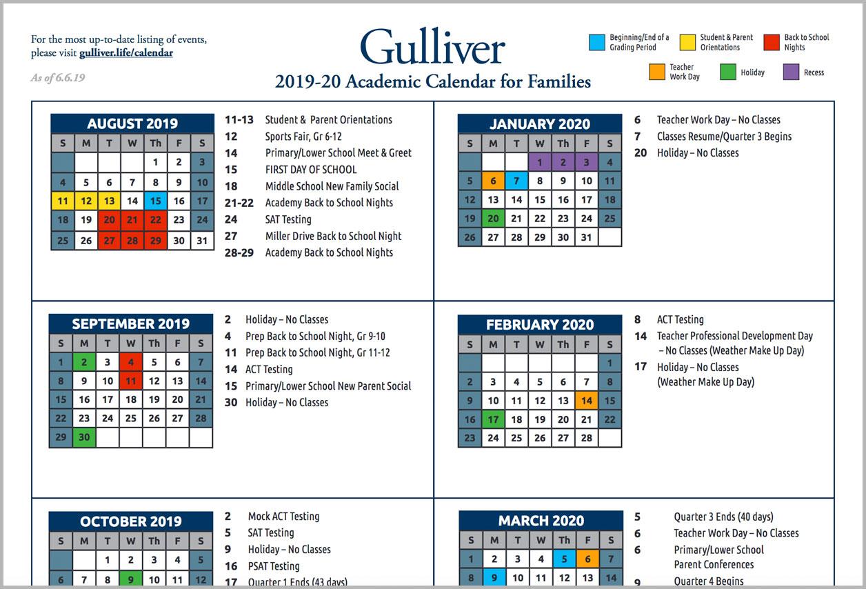 Miami Dade College School Calendar 2021 2020 | Printable