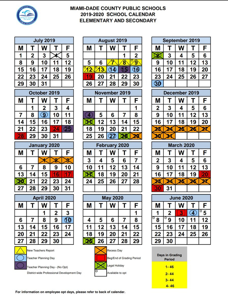 Miami Dade Public School Calendar 2020 17 | Calendar Fall 2020