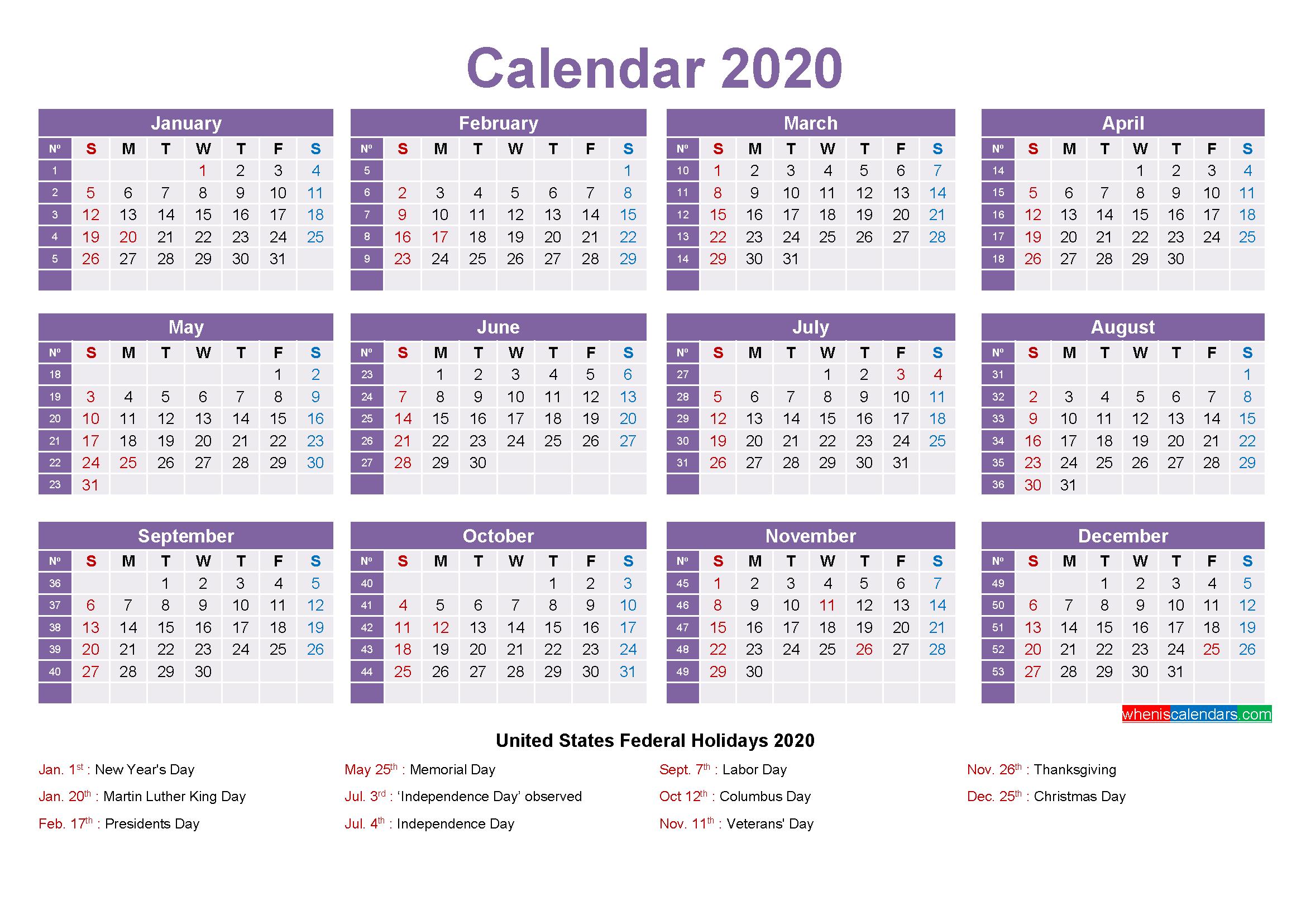 Mini Desk Calendar 2020 Free Printable – Free Printable