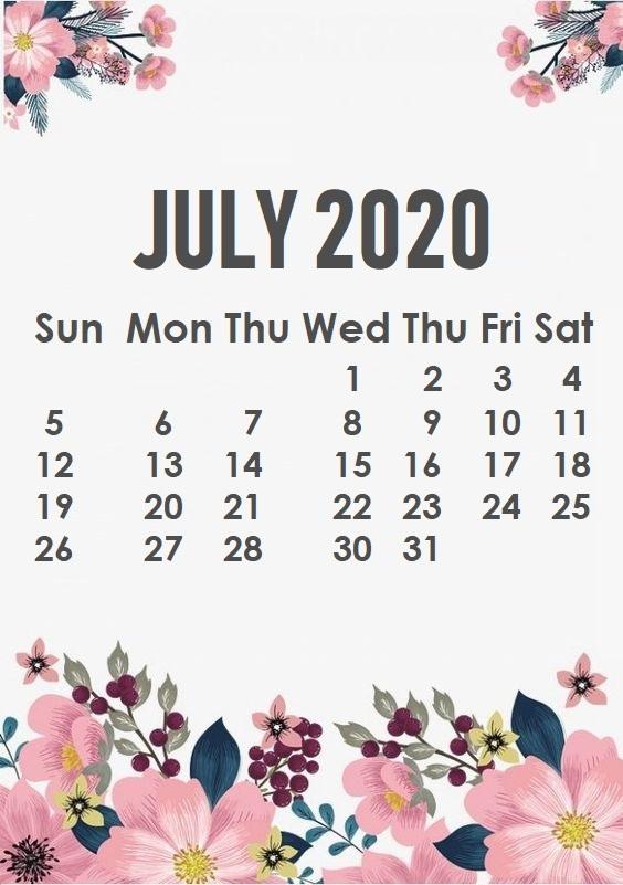 Monthly 2020 Iphone Wallpaper | Calendar 2020