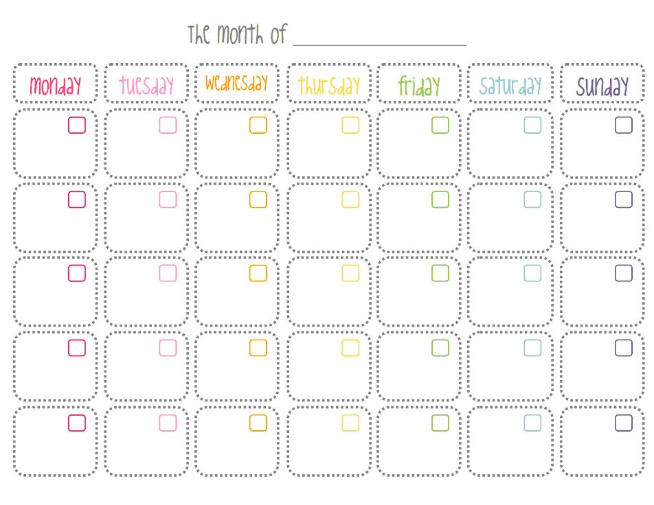 Monthly Calendar.pdf - Google Drive | Monthly Calendar