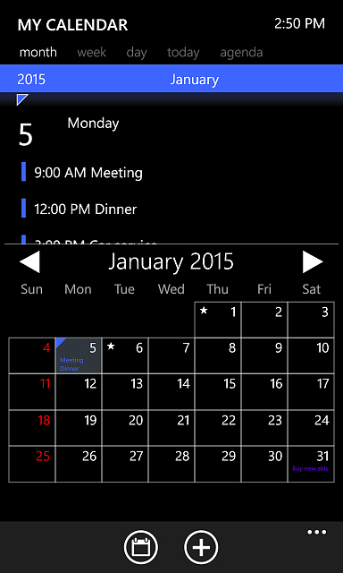 My Calendar For Windows Phone 8.1 - Windows Central Forums