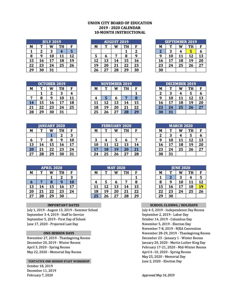 Nyc Doe School Calendar 2020 | 2020Calendartemplates